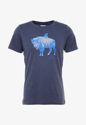PINEY FALLS™ GRAPHIC TEE - T-Shirt print - collegiate navy heather