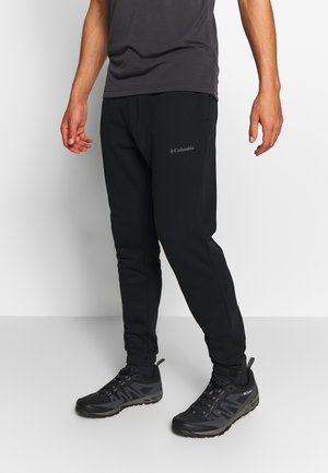 LOGO JOGGER - Tracksuit bottoms - black/city grey