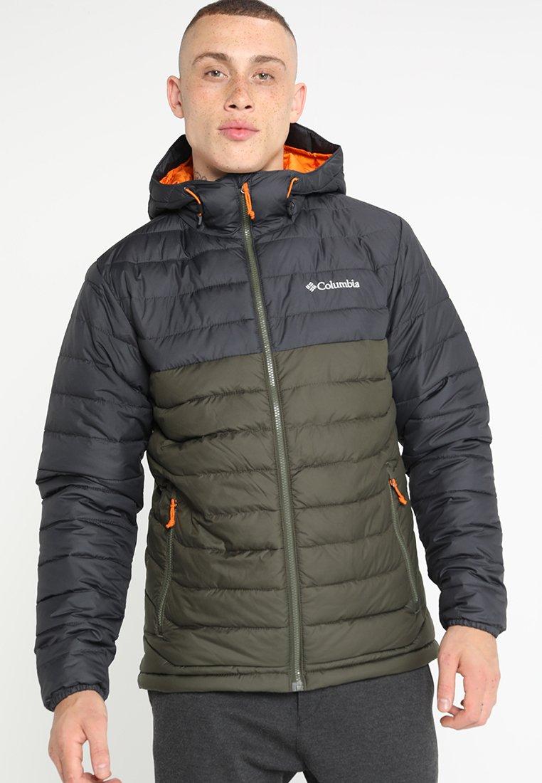 Columbia - POWDER LITE HOODED JACKET - Winter jacket - peatmoss/shark