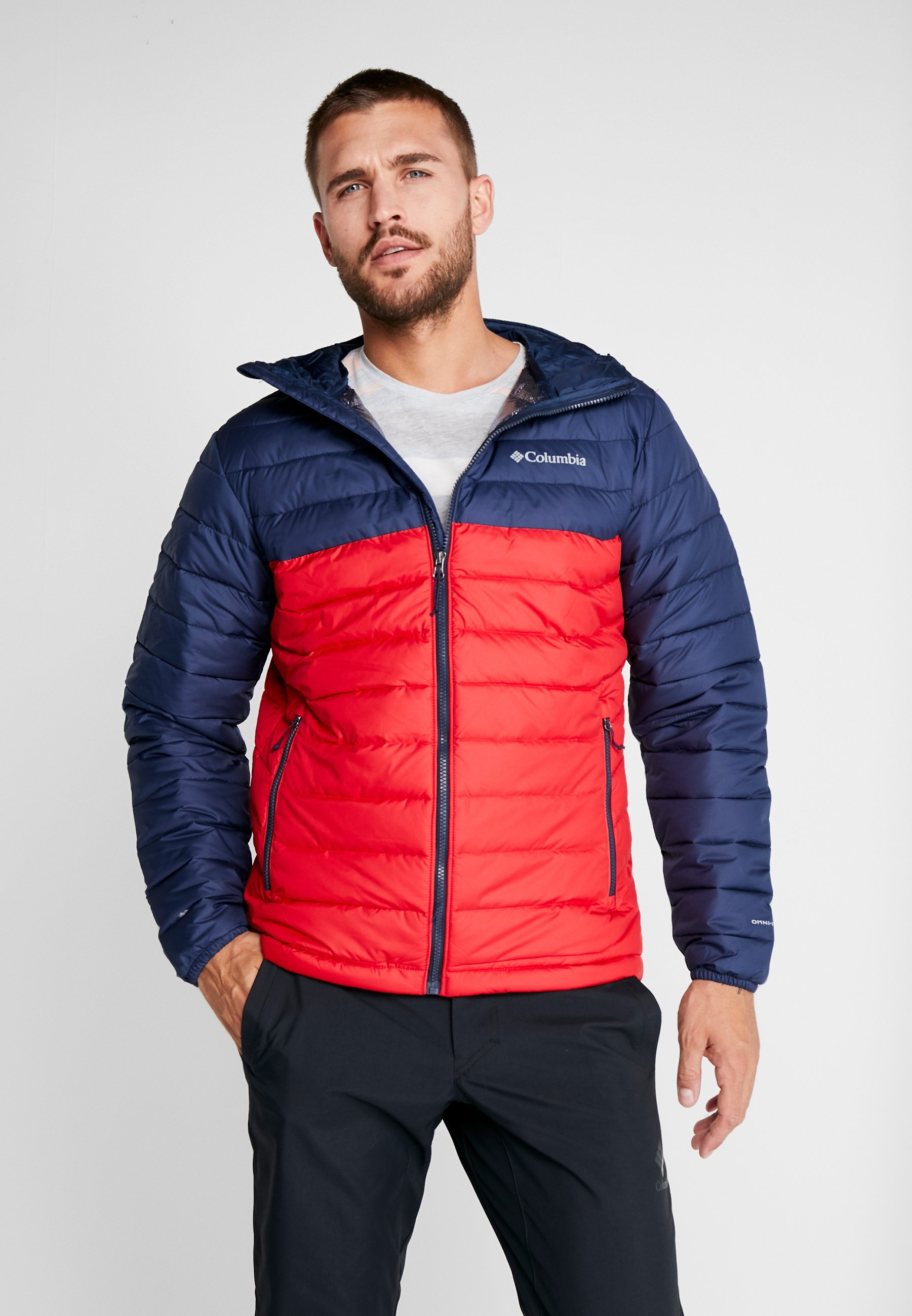 Powder Lite Mountain Navy Columbia JacketVeste collegiate Hooded Red D'hiver SUqzMpV