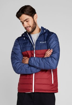 POWDER LITE HOODED JACKET - Kurtka zimowa - red jasper/collegiate navy