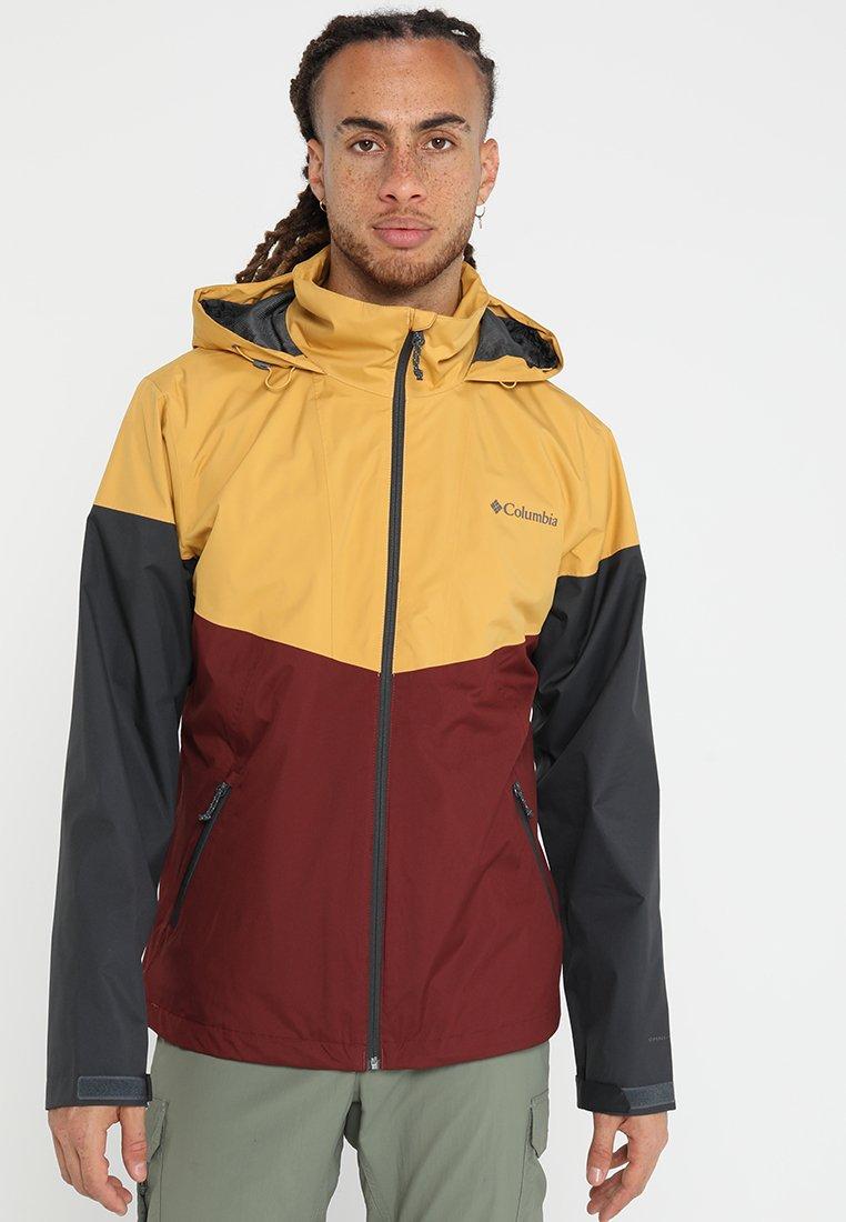 Columbia - INNER LIMITS JACKET - Waterproof jacket - yellow/bordeaux/dark grey