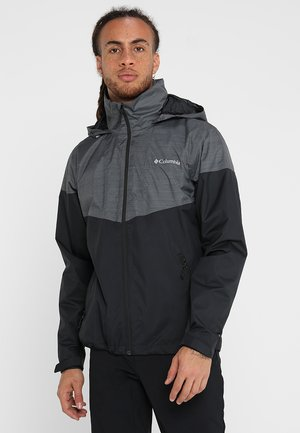 Waterproof jacket - black/dark grey