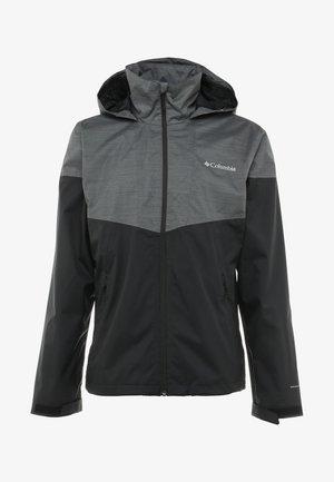 Waterproof jacket - black/dark grey