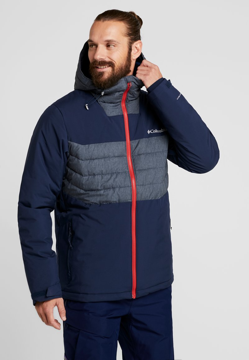 Columbia - WHITE HORIZON HYBRID JACKET - Lyžařská bunda - collegiate navy/heather