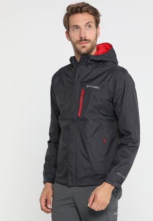 POURING ADVENTURE JACKET - Veste Hardshell - grey/red