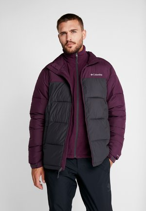 PIKE LAKE™ JACKET - Winterjas - shark/black cherry