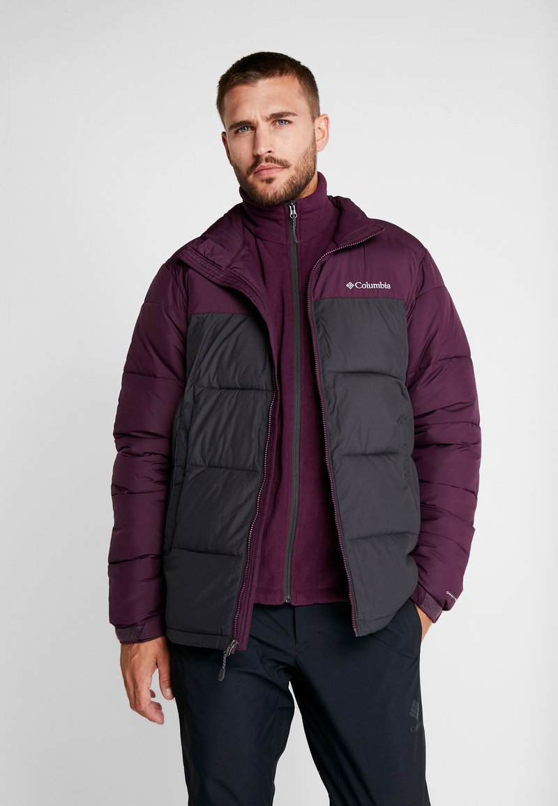 Columbia - PIKE LAKE™ JACKET - Kurtka zimowa - shark/black cherry