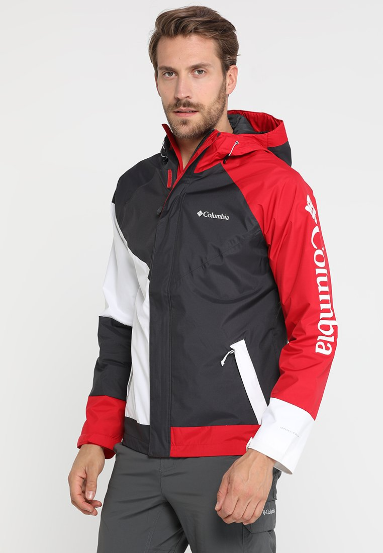 Columbia - WINDELL PARK JACKET - Impermeabile - shark/white/mountain red