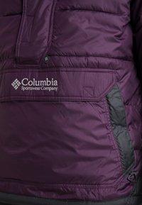 Columbia - LODGE PULLOVER JACKET - Kurtka zimowa - black cherry/shark - 5