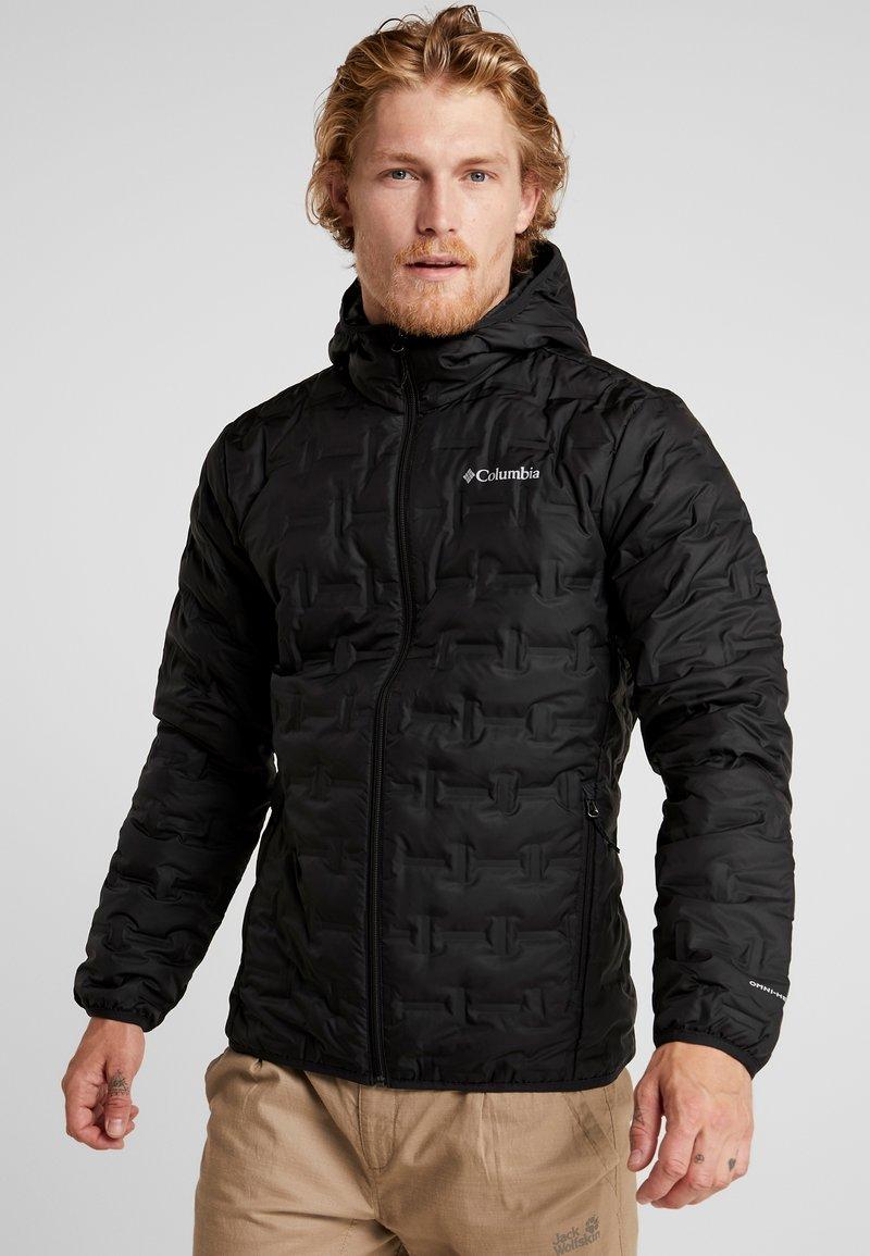 Columbia - DELTA RIDGE HOODED JACKET - Gewatteerde jas - black