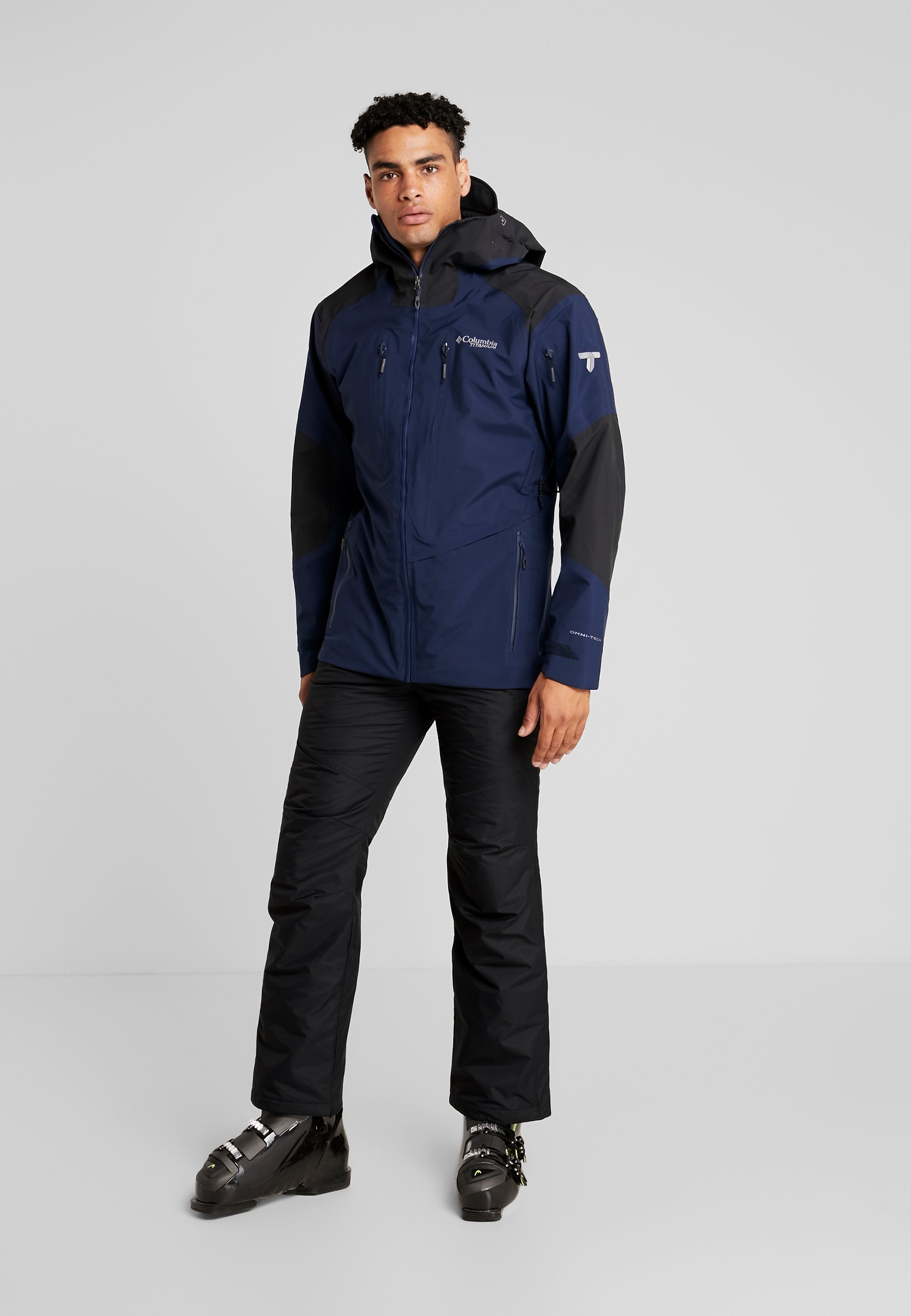 Columbia POWDER PASS™ HOODED JACKET - Outdoorjas - azul/collegiate navy