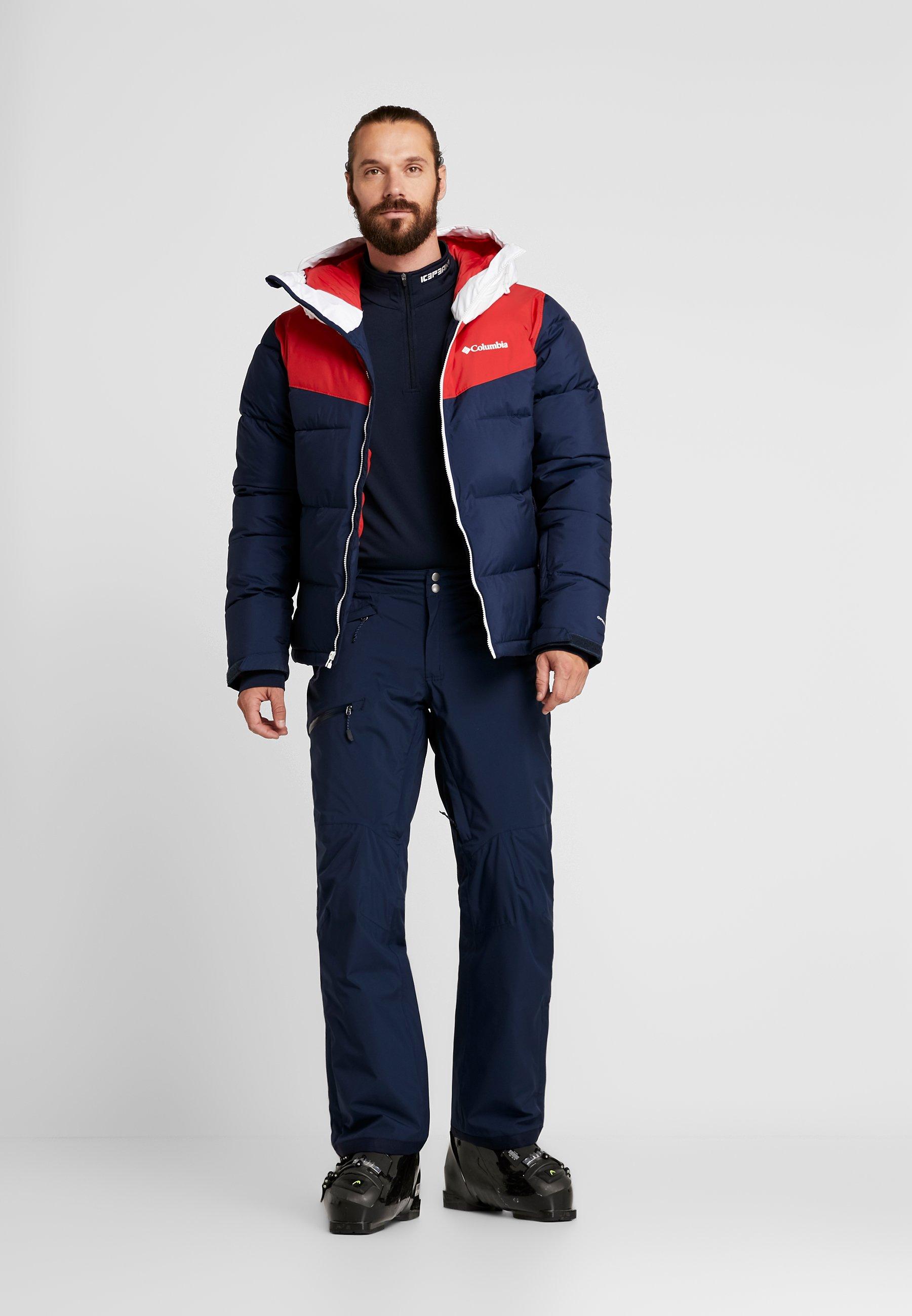 Columbia ICELINE RIDGE JACKET - Kurtka narciarska - collegiate navy/mountain red/white