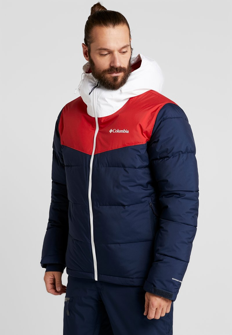 Columbia - ICELINE RIDGE JACKET - Ski jas - collegiate navy/mountain red/white