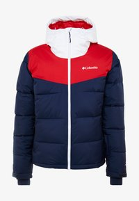 Columbia - ICELINE RIDGE JACKET - Ski jas - collegiate navy/mountain red/white - 4