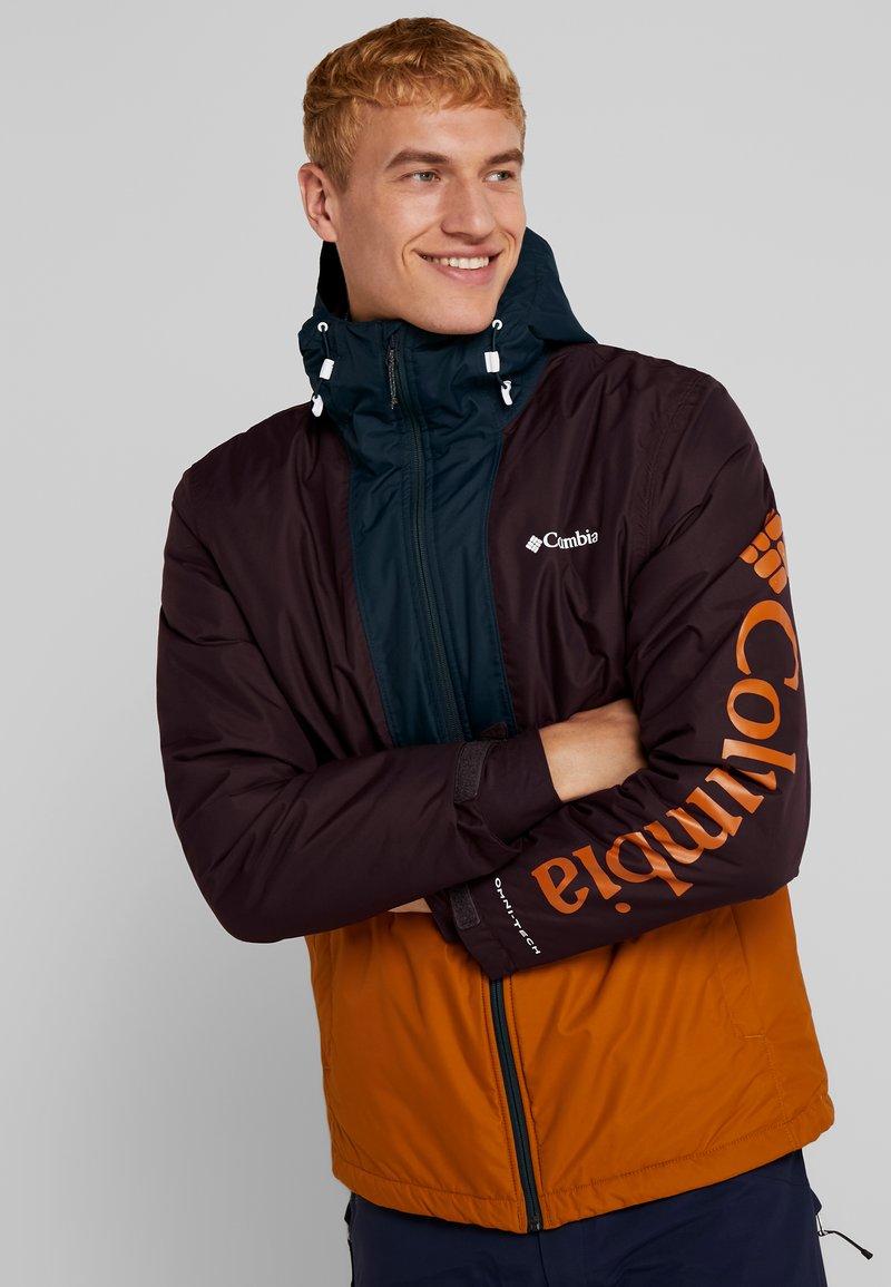 Columbia - TIMBERTURNER JACKET - Snowboardjas - burnished amber/black cherry