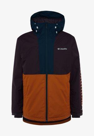 TIMBERTURNER JACKET - Snowboard jacket - burnished amber/black cherry