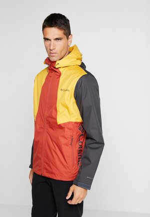 INNER LIMITS™ JACKET - Chaqueta Hard shell - carnelian red/bright gold/shark