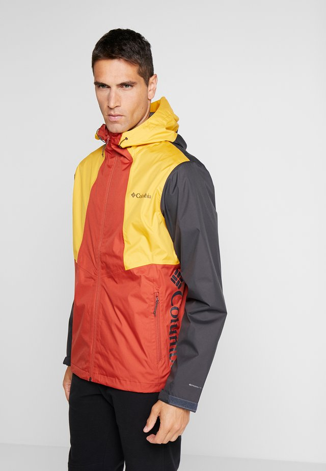 INNER LIMITS™ JACKET - Hardshellová bunda - carnelian red/bright gold/shark