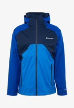 RAIN SCAPE™ JACKET - Impermeable - collegiate navy/azul, azure blue/collegiate navy zips