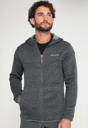 BOUBIOZ HOODED FULL ZIP - Giacca in pile - graphite