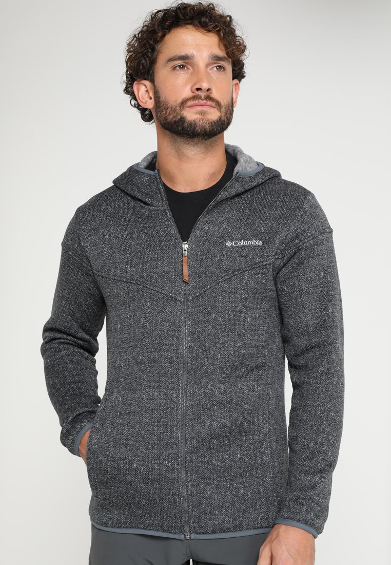 Columbia - BOUBIOZ HOODED FULL ZIP - Fleece jacket - graphite