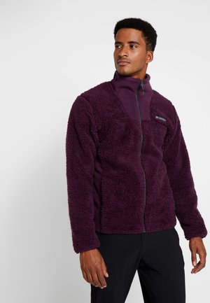 WINTER PASS FULL ZIP - Fleece jacket - black cherry/shark