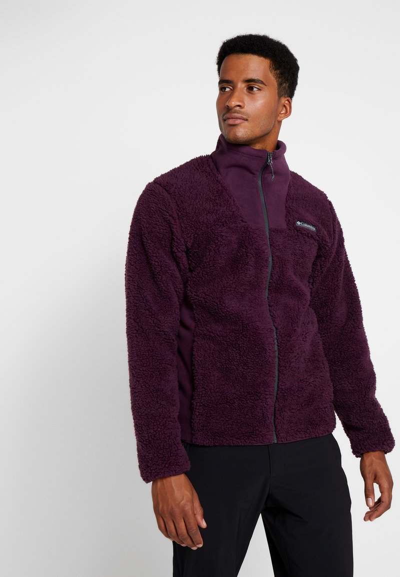Columbia - WINTER PASS FULL ZIP - Fleecejacke - black cherry/shark