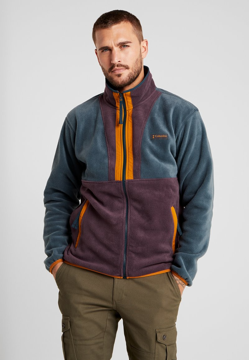 Columbia - BACK BOWL FULL ZIP  - Fleece jacket - night shadow/black cherry