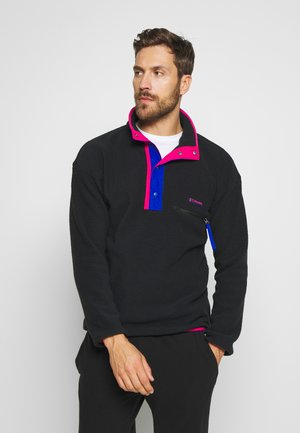 HELVETIA™ HALF SNAP - Fleece trui - black