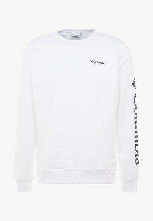 LOGO CREW - Sweatshirt - white/black
