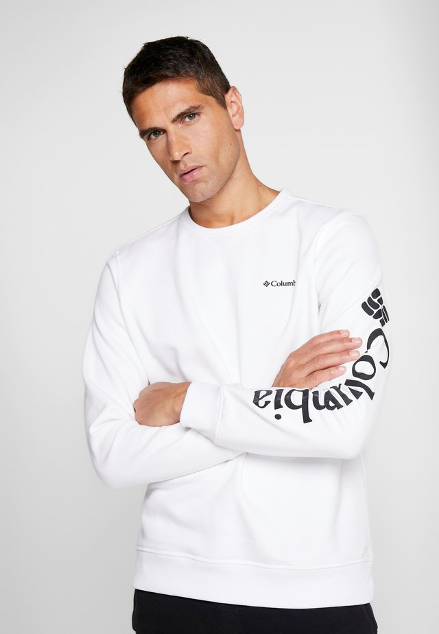 LOGO CREW - Sweatshirt - white/black
