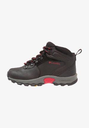 NEWTON RIDGE - Hiking shoes - black/mountain red