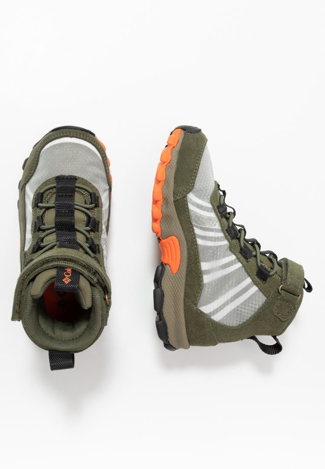 CHILDRENS FLOWBOROUGH MID - Hiking shoes - nori/tangy orange
