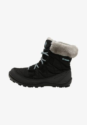 YOUTH MINX SHORTY OMNI-HEAT WATERPROOF - Botas para la nieve - black/spray