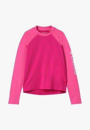 SANDY SHORES SUNGUARD - Langarmshirt - haute pink/wild geranium/white