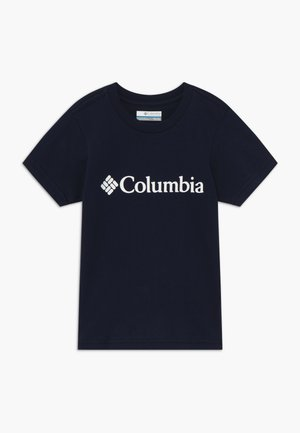 BASIC LOGO YOUTH SHORT SLEEVE - T-shirt imprimé - collegiate navy