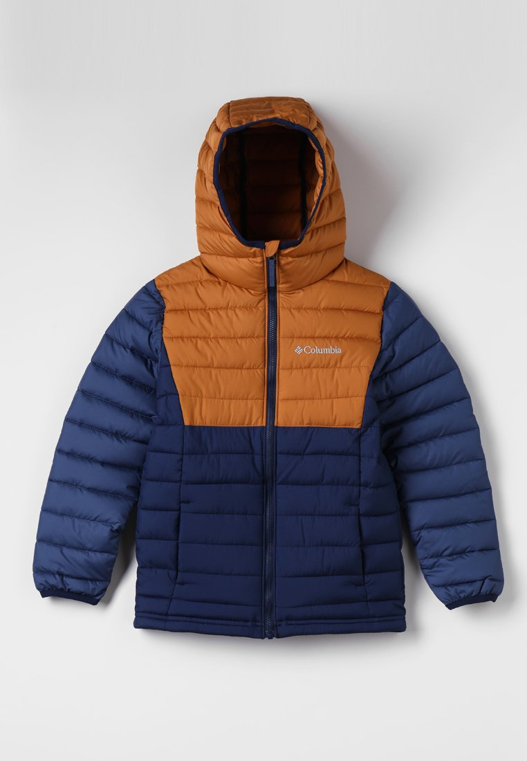Columbia - POWDER LITE™ BOYS HOODED JACKET - Vinterjakker - collegiate navy/canyon gold