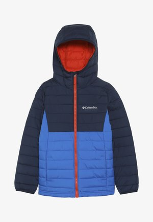 POWDER LITE™ BOYS HOODED JACKET - Vinterjakke - super blue