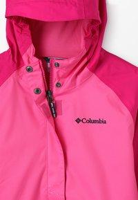 Columbia - SPLASH S'MORE JACKET - Vodotěsná bunda - haute pink/wild geranium/nocturnal - 5