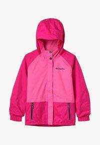Columbia - SPLASH S'MORE JACKET - Vodotěsná bunda - haute pink/wild geranium/nocturnal - 4