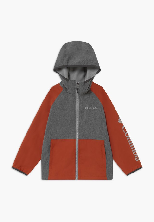 ROCKY RANGE - Soft shell jacket - shark/carnelian red