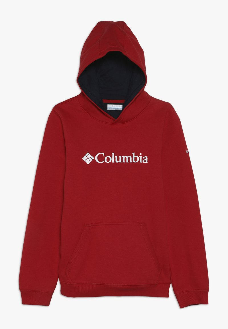Columbia - BASIC LOGO YOUTH HOODIE - Kapuzenpullover - mountain red/collegiate navy