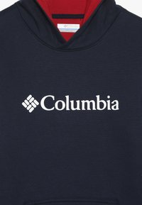 Columbia - BASIC LOGO YOUTH HOODIE - Jersey con capucha - collegiate navy/red - 4