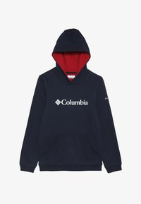 Columbia - BASIC LOGO YOUTH HOODIE - Jersey con capucha - collegiate navy/red - 3