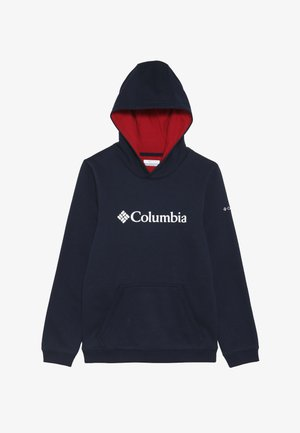 BASIC LOGO YOUTH HOODIE - Sweat à capuche - collegiate navy/red