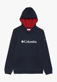 Columbia - BASIC LOGO YOUTH HOODIE - Jersey con capucha - collegiate navy/red - 0