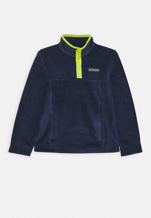 STEENS 1/4 SNAP - Fleecepullover - collegiate navy/bright chartreuse