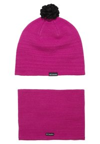 Columbia - YOUTH SNOW MORE HAT FOX SET - Čepice - pink