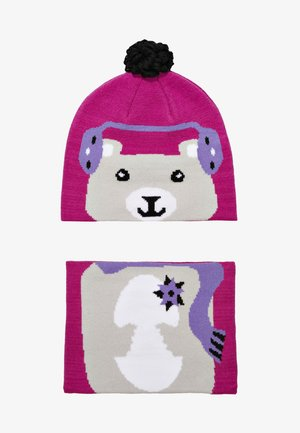 YOUTH SNOW MORE HAT FOX SET - Lue - pink